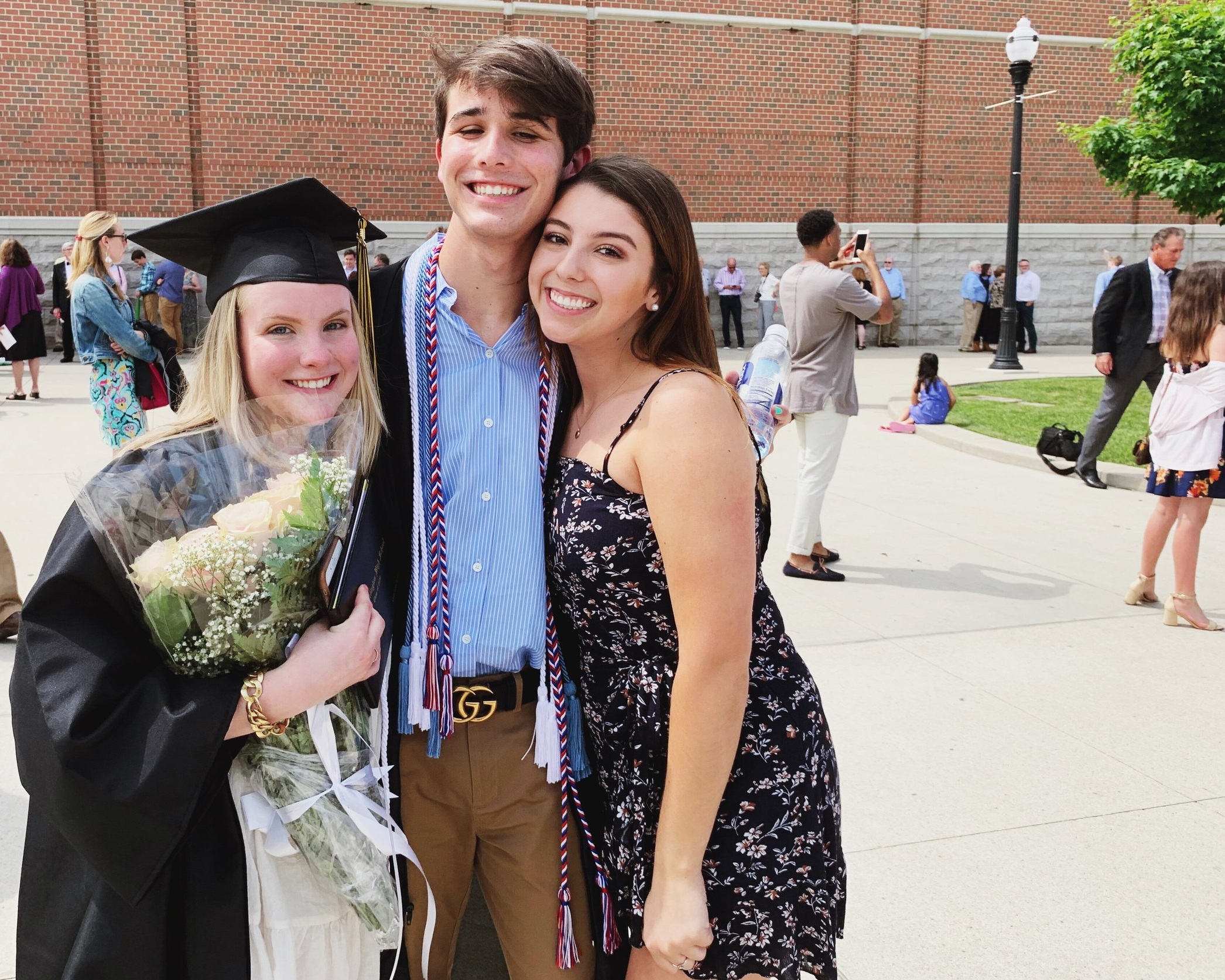 8th grade besties at graduation
