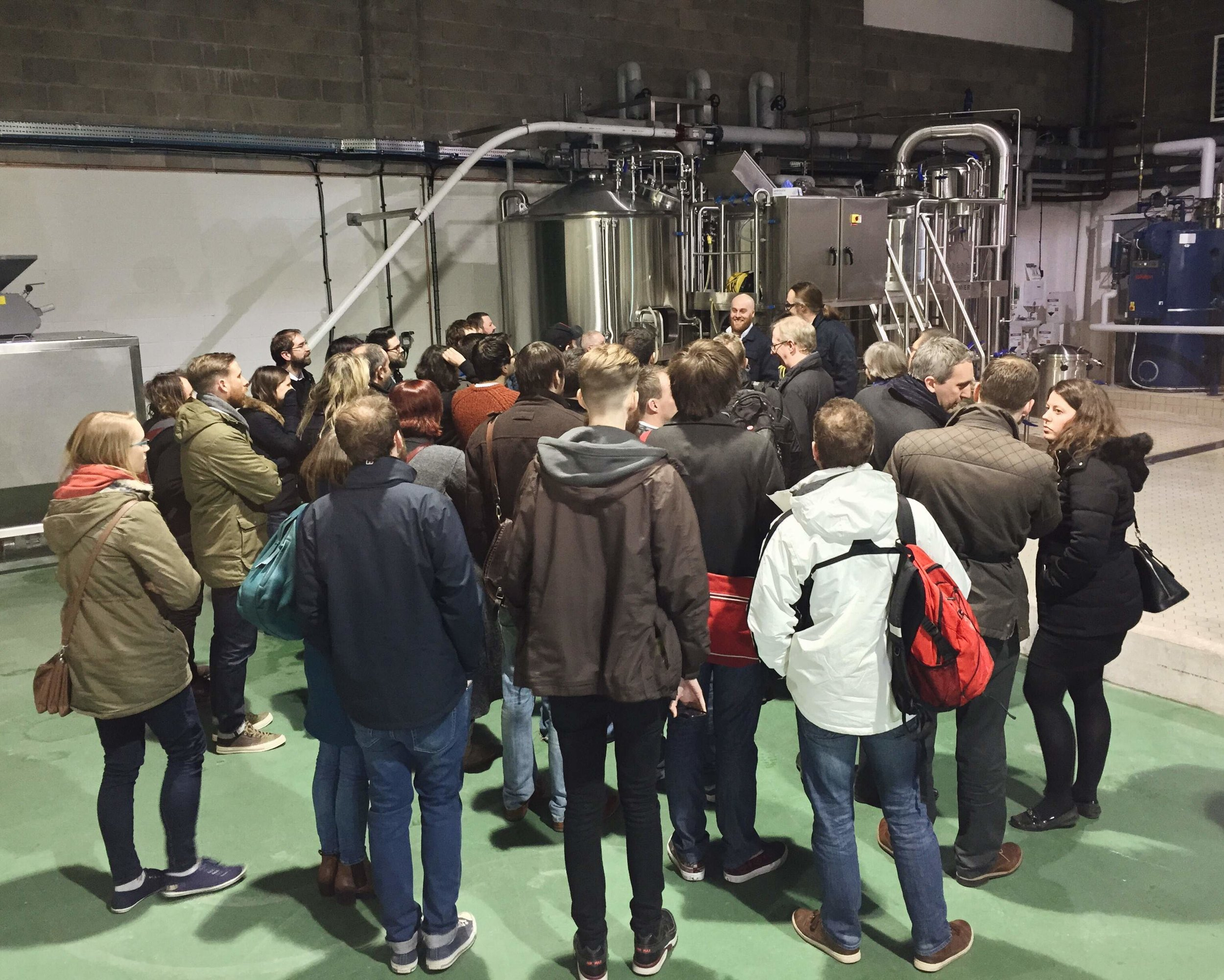 James and Al leading the second of the Meet The Brewery tours