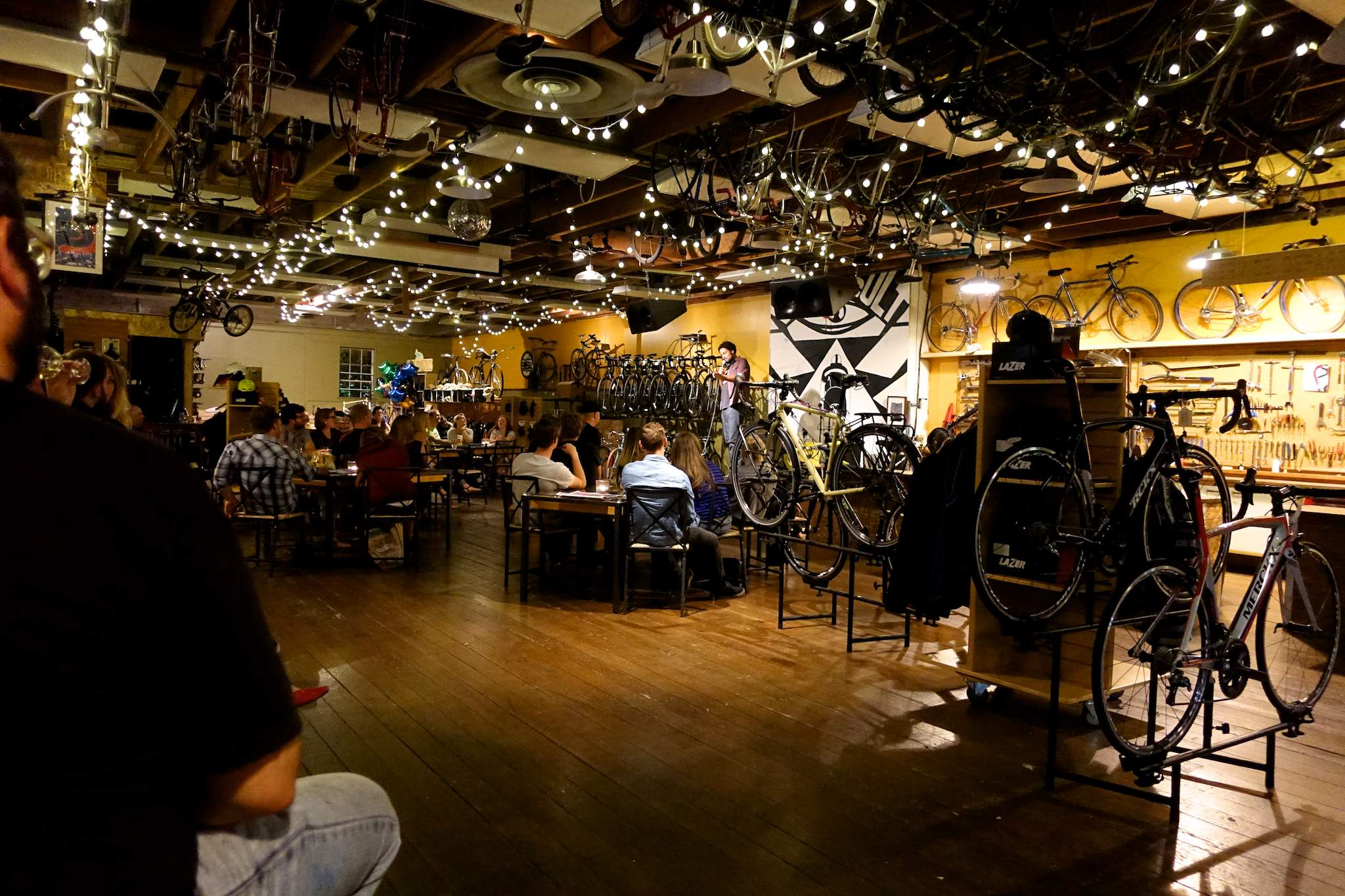 Comedy gig at Velo Cult