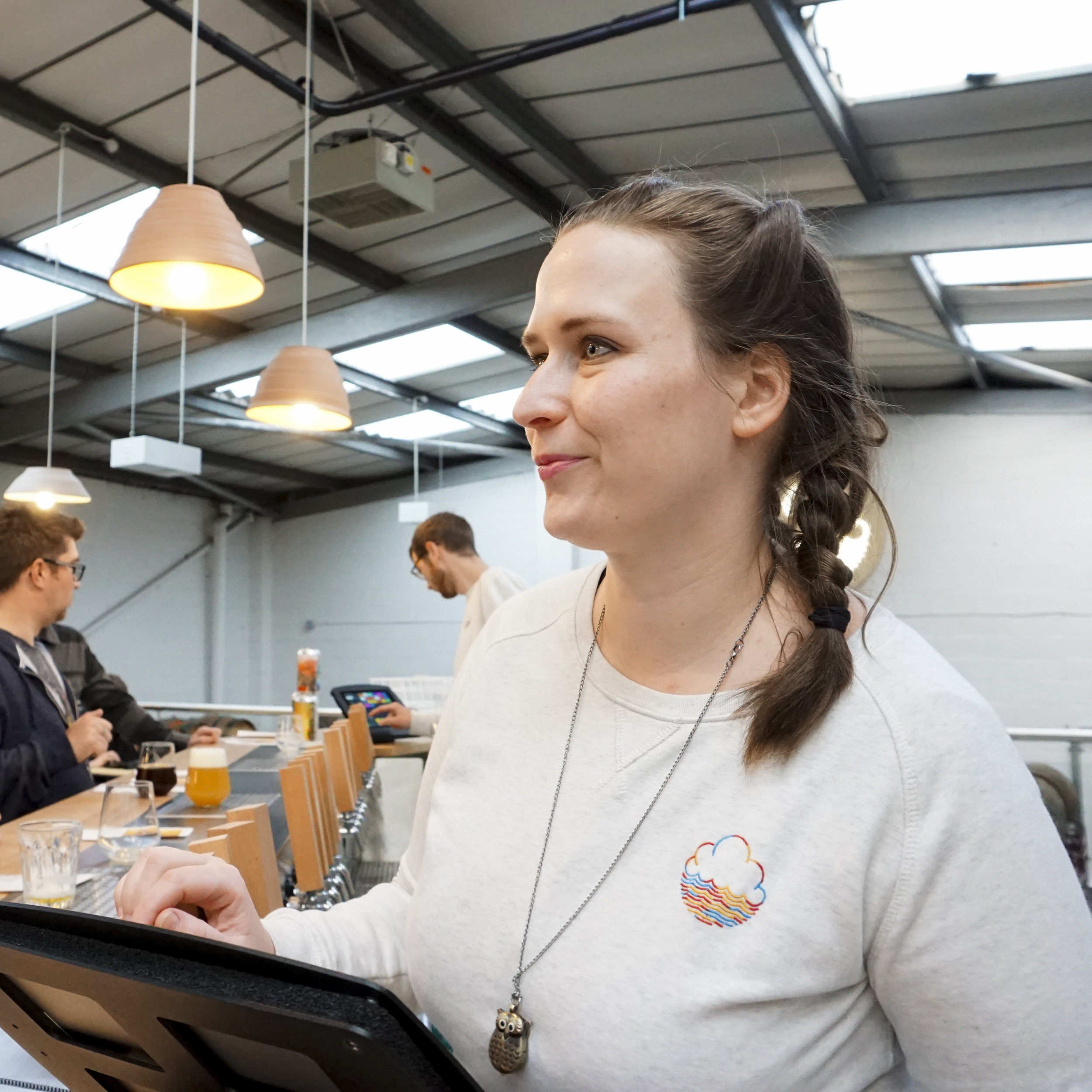Zsofi Karolina Denk — Full Time Unit 9 Tap Room Staff   I have been working within the craft beer industry for many years now. I first went down to a beer festival called Főzdefesz, which was the first Hungarian Craft Beer Festival, and I met the festival organiser Daniel Bart, who was planning to open up the first craft beer bar in Budapest. I started to work there at Élesztő (Yeast) as a bartender and manager. We heavily promoted the Hungarian craft beer scene. I attended many food and drink festivals with a cool VW T1 moving bar.  A few years later, my partner and I moved to Manchester and continued to work within the industry, first in the Marble bars, and later at Café Beermoth. And now I work here at Cloudwater's tap room.  Beer is all over my life. I love to see the creativity behind collaborations, and how amazing it is that you can have so methods of brewing, ranging from classic elegant recipes, or new and exciting creations. My favourite beer experience is when Sam Calagione went down to Cairo to forage some native Egyptian saccharomyces yeast, and rebrewed an ancient recipe they found written with Hieroglyphs in a pyramid. How cool is that?!   Desert island beer:  I love the big chocolatey stouts, but the favourite is Or Xata from The Bruery