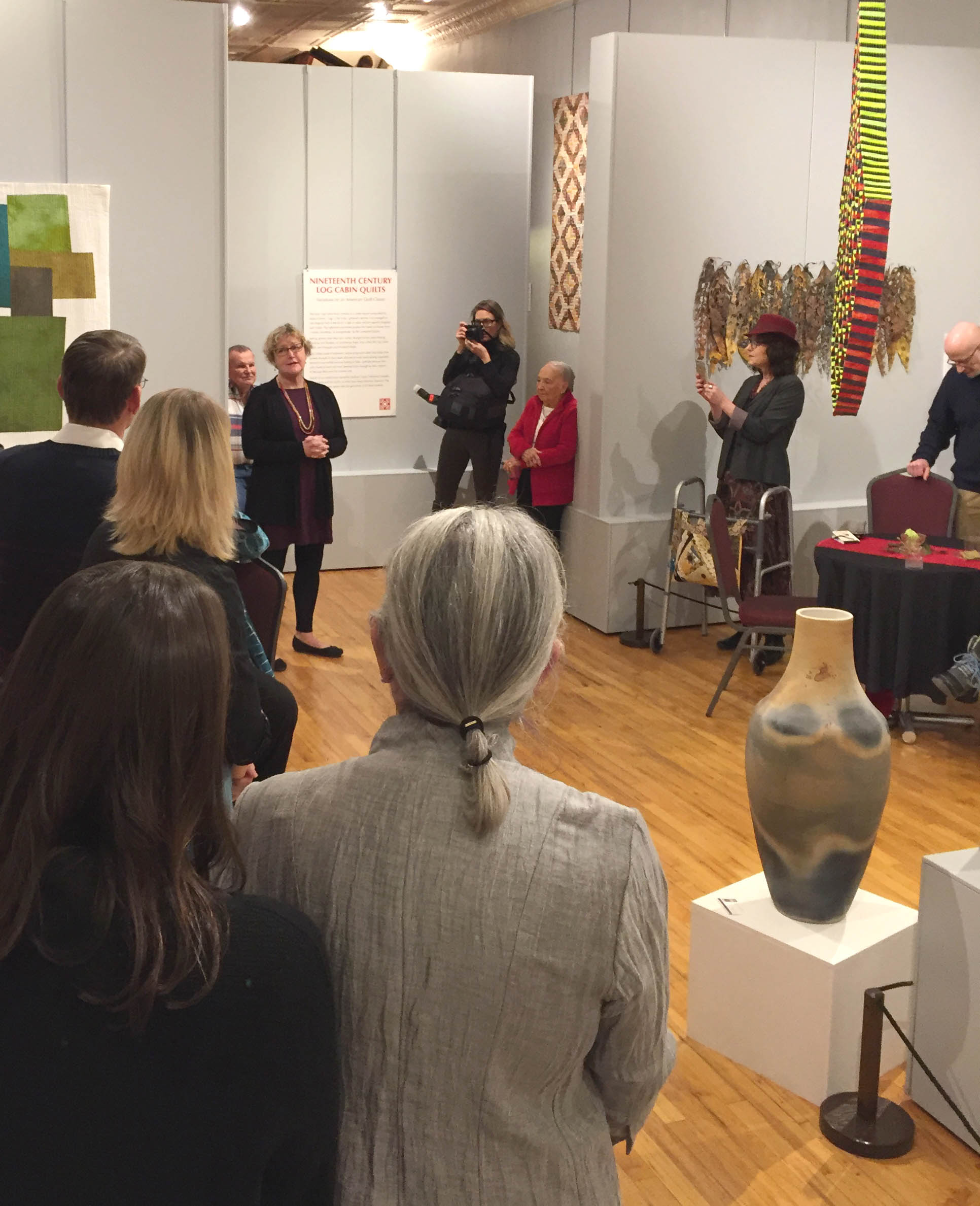 Speaker at Art Quilts of the Midwest exhibit at Iowa Quilt Museum.jpg