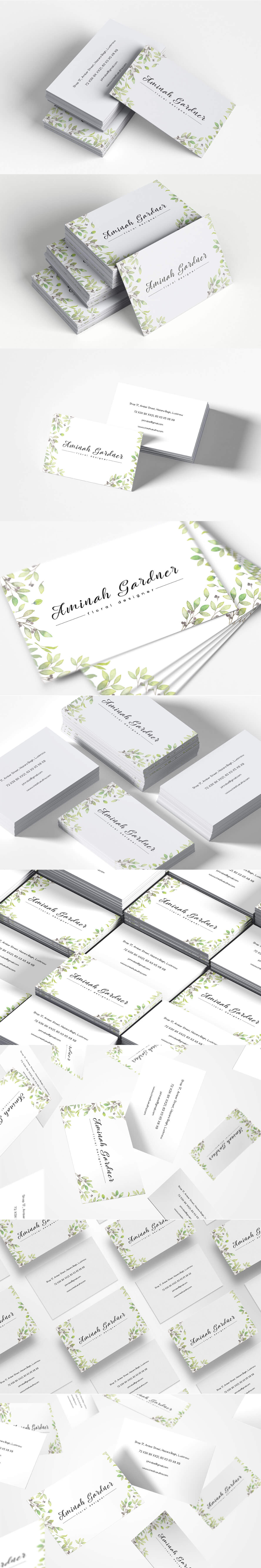 Free #Floral Designer #Business #Card Template is a minimalist and elegant business card.