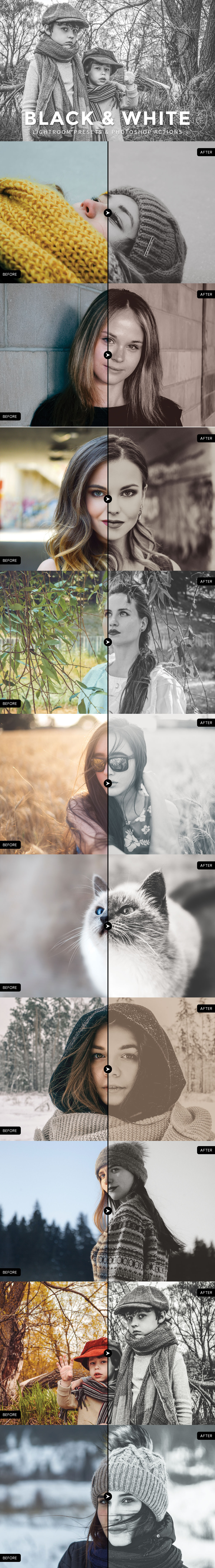 Free #Black and #White Lightroom #Presets are so handy and very easy to use.