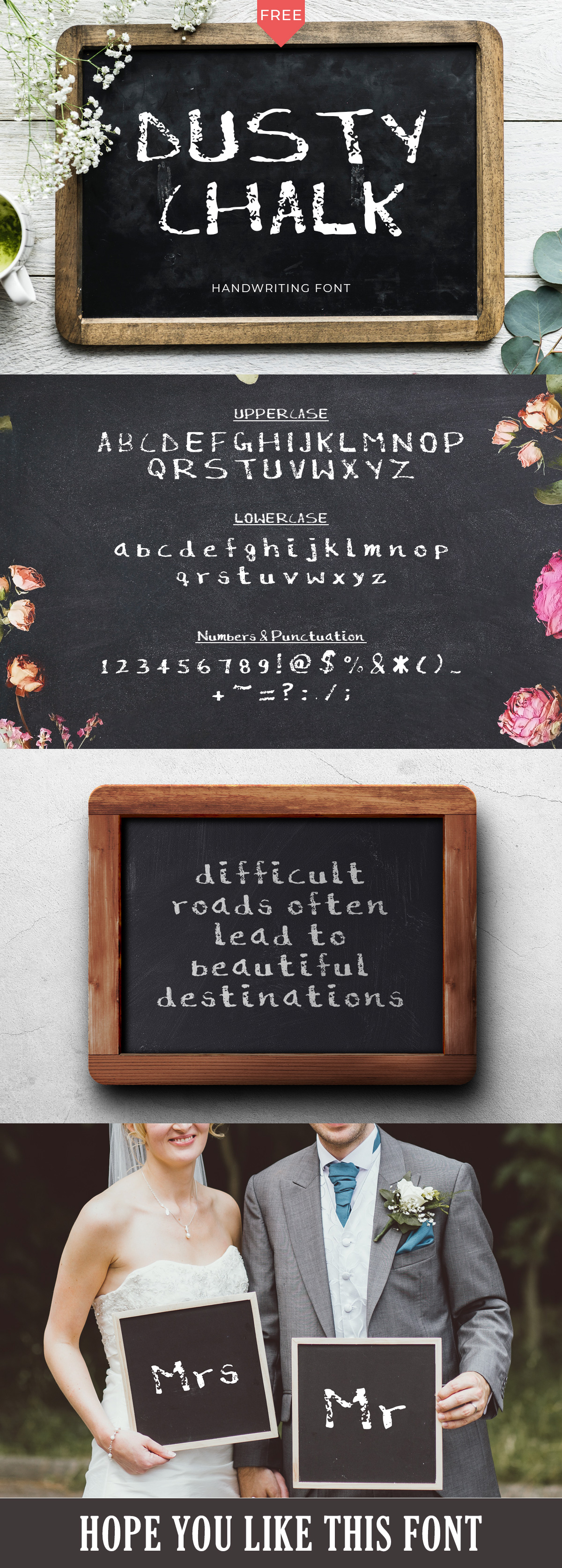 Dusty #Chalk #handmade font is a good type for grunge #typography and these are one of the most useful #fonts these days.