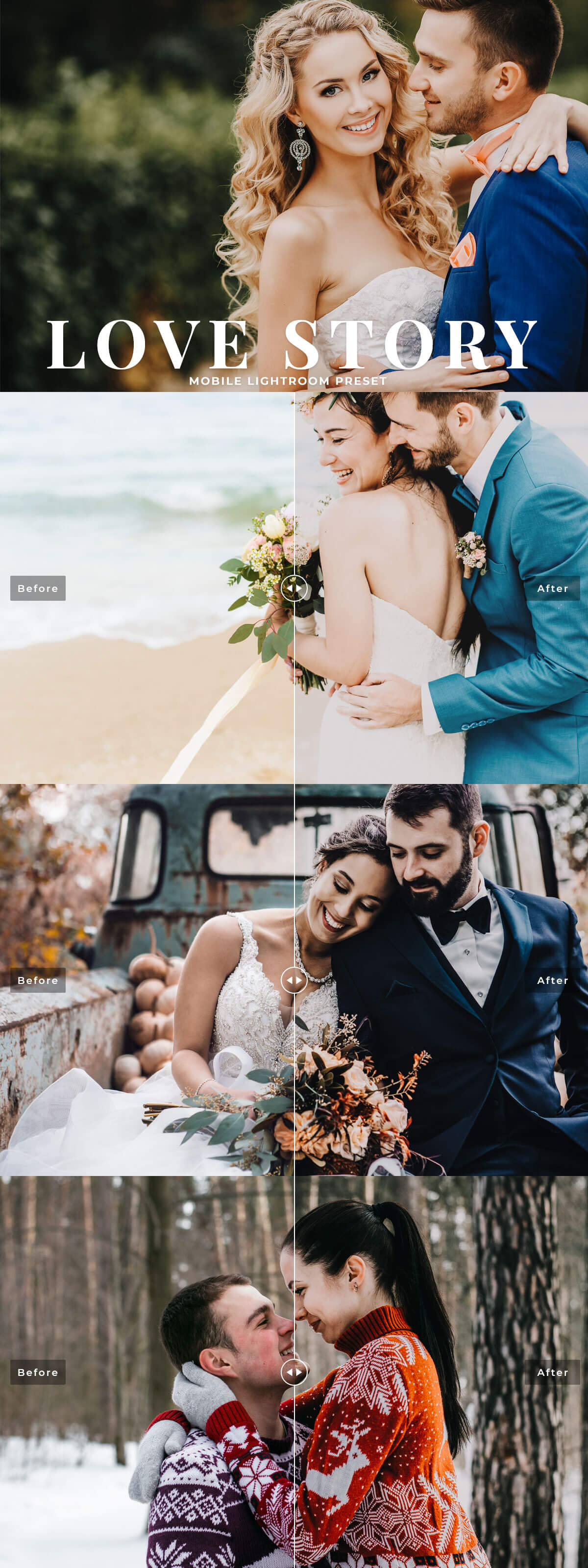Free #Love #Story Mobile Lightroom #Preset contain single beautiful effect that will add romantic color look with a hint of warmth and clarity with your portraits in perfect finishing touch with just in one click.