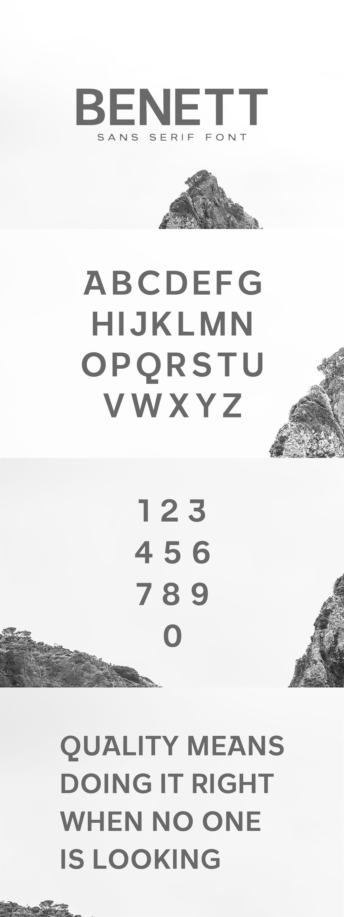 Free Benett#Sans #Serif #Fontis a clean bold sans font. It contains uppercase and numbers only. It will be perfect for packaging, presentations, logo, headlines, etc.