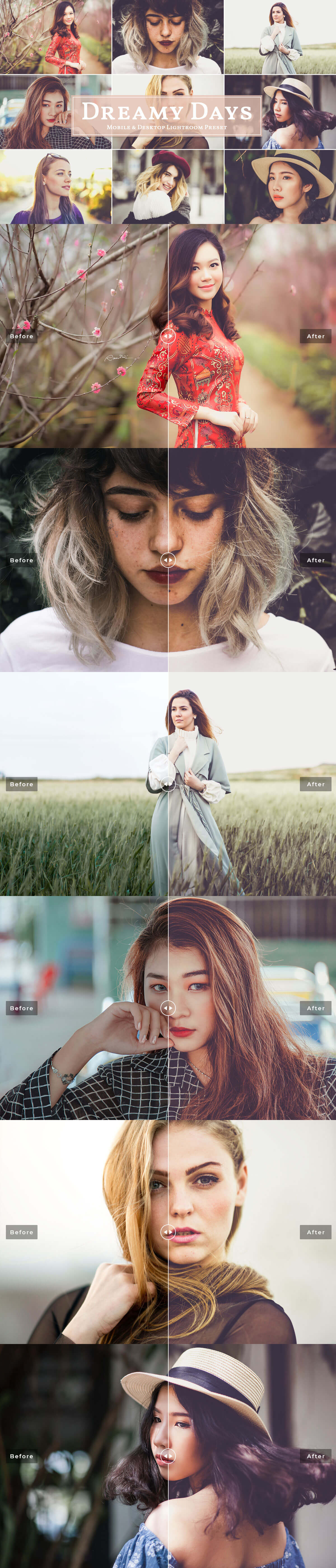 Free Dreamy Days #Mobile and #Desktop Lightroom #Preset will help you achieve dreamy effect and enhance your photographs.