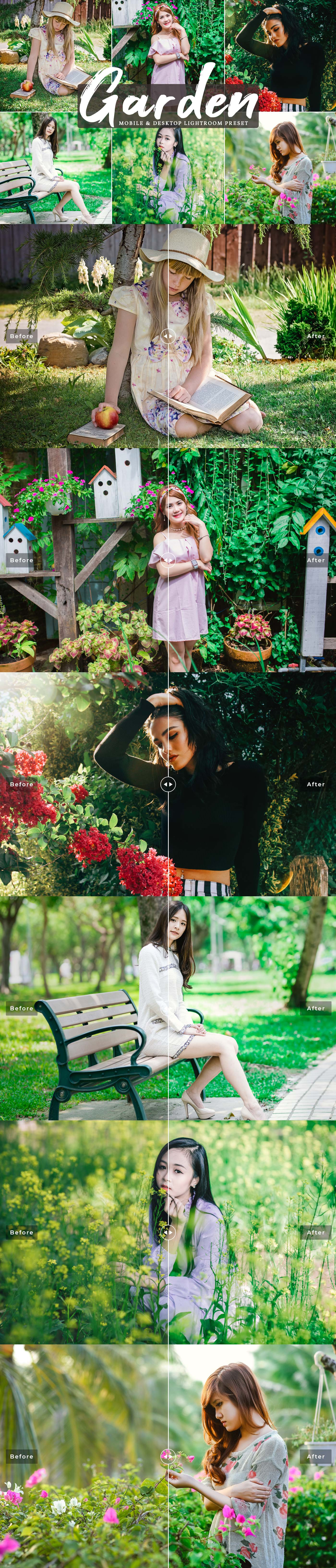 #Garden Desktop and Mobile Free #Lightroom #Preset is a gorgeous filter to enhance and improve your garden photography with just in a click.