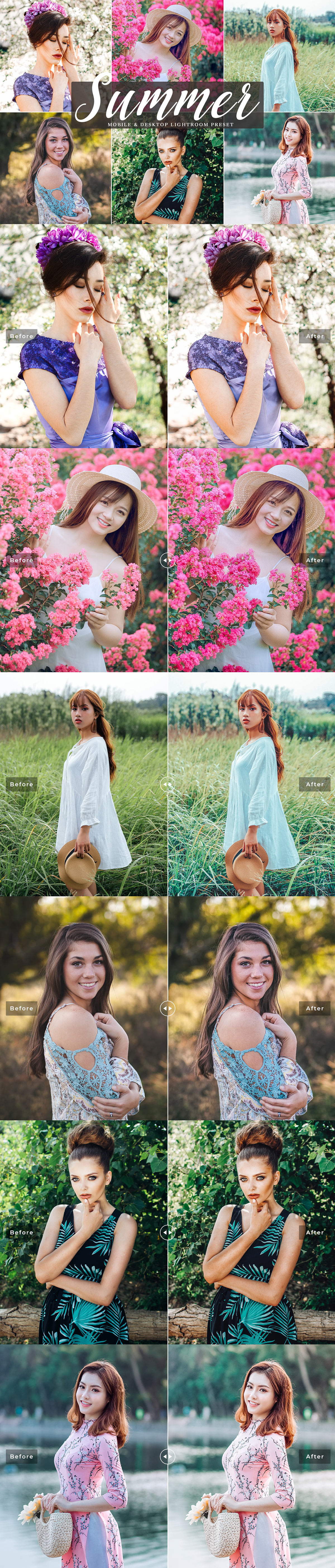 Free Summer #Mobile #Lightroom #PresetsPack was created to give your photographs a warm summer look by warming them just in a single click!