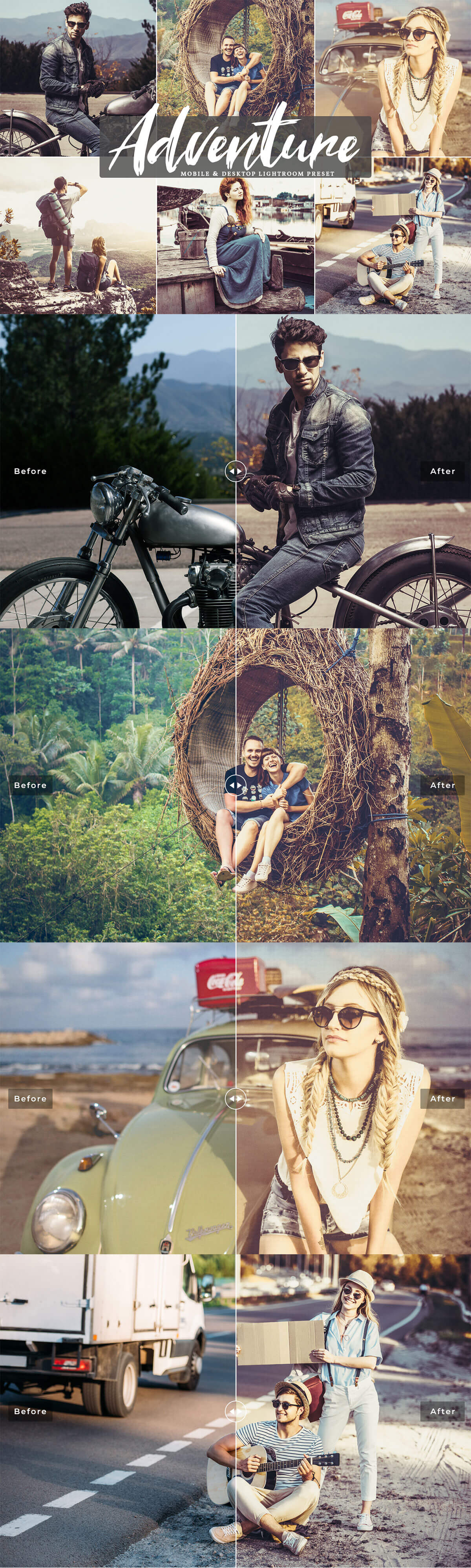 #Adventure #Mobile & Desktop Free Lightroom #Preset contains everything you ever wanted to improve workflows for processing and editing adventure & travel shots within a click.
