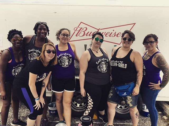 We had a great time volunteering at @nffmaryland this past weekend. Thanks to everyone for coming out to see us! 💜 Be on the lookout for where we go next!  #nationalfolkfestivalsalisbury #salisburyrollergirls