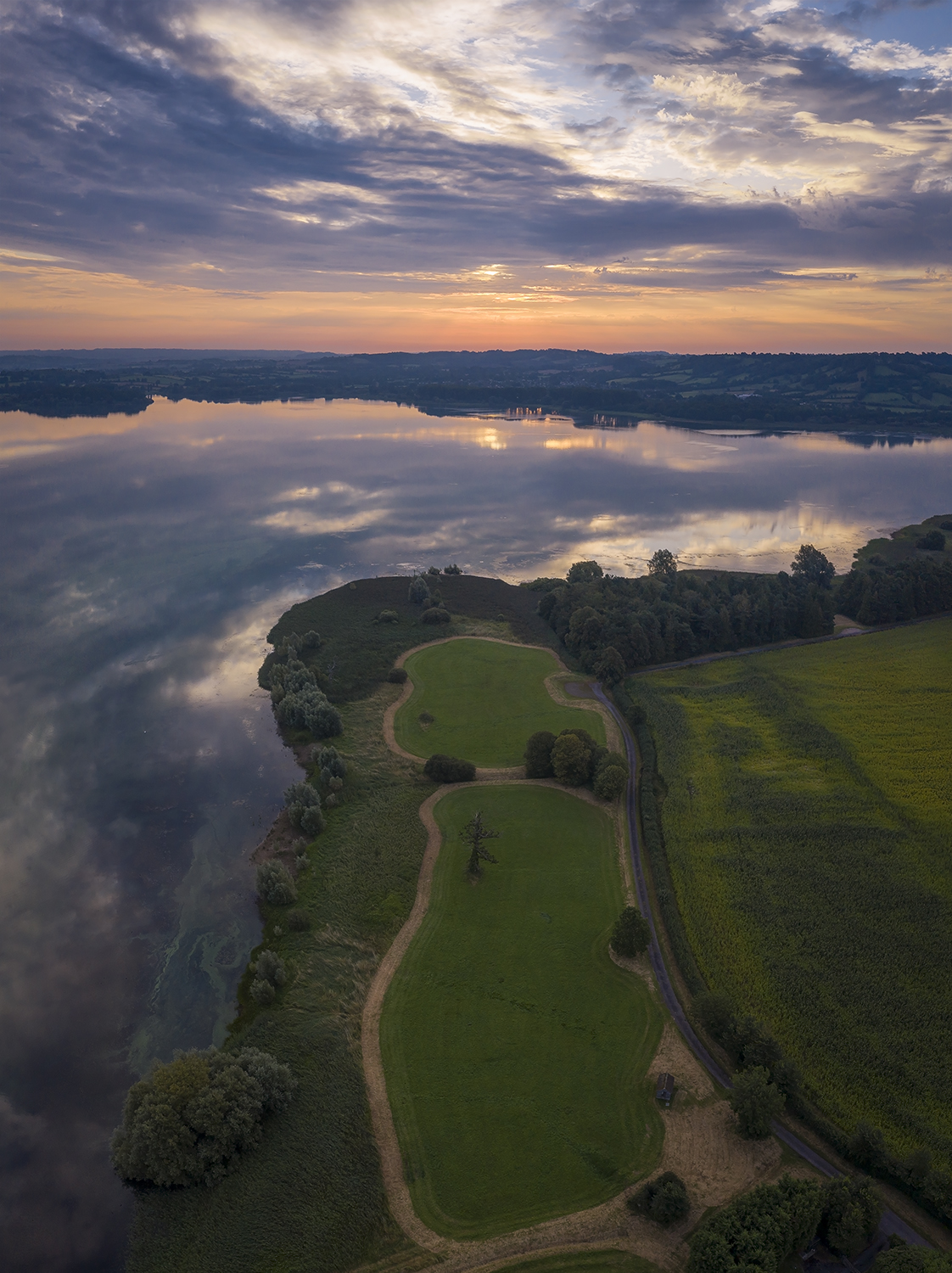 Vertical panoramic of Chew Valley Lake