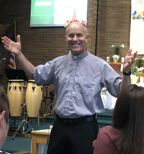 Pastor John celebrating Easter Sunday.