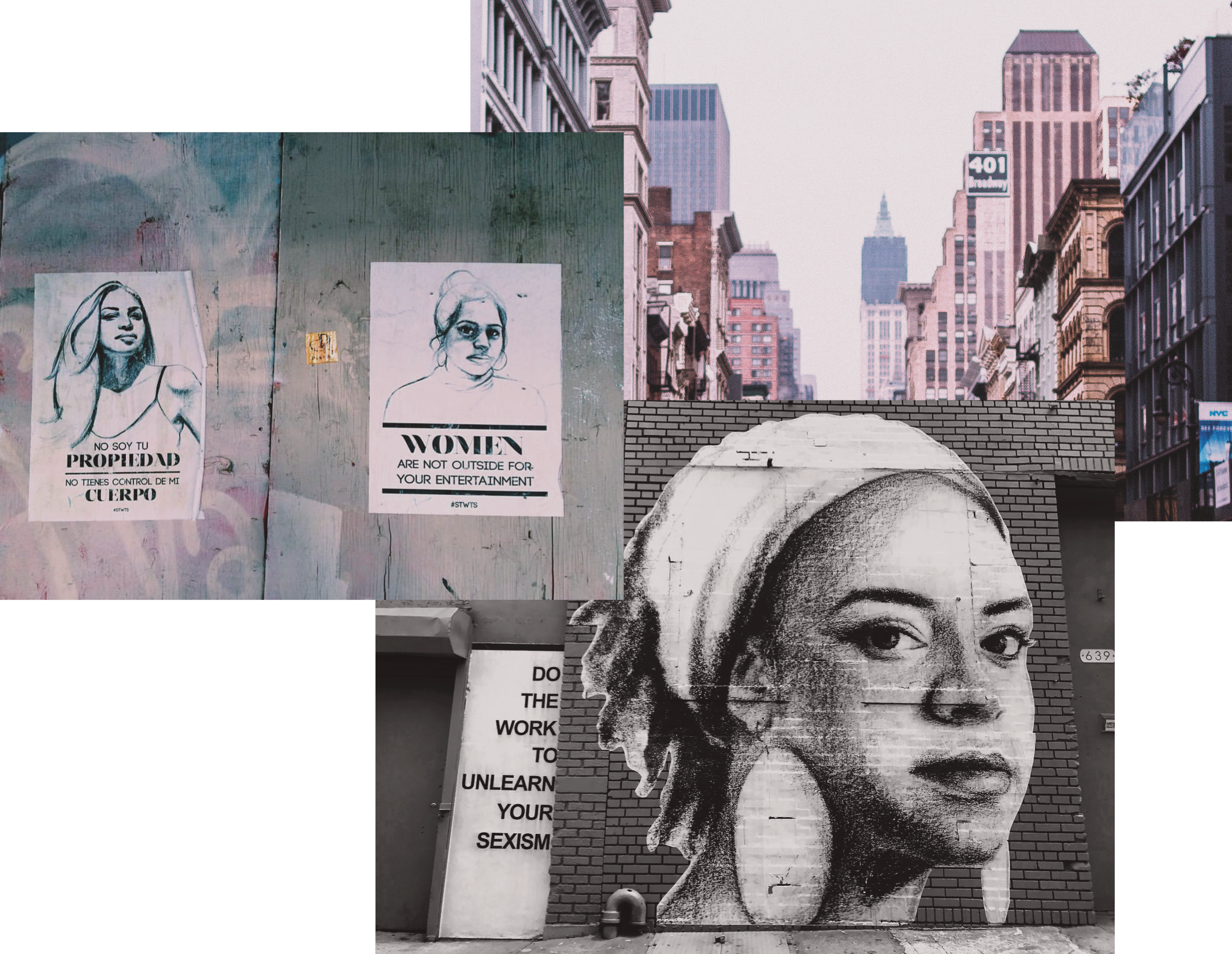"Photos from ""Stop Telling Women to Smile"", a street art project by Tatyana Fazlalizadeh •"