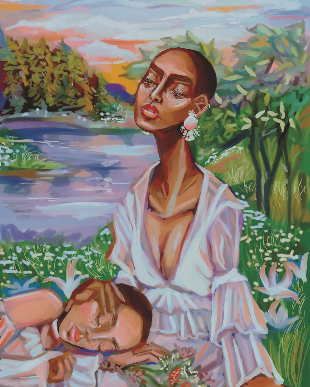 "Artwork from ""Not My Hair"" a digital art series by Laurena Finéus •"