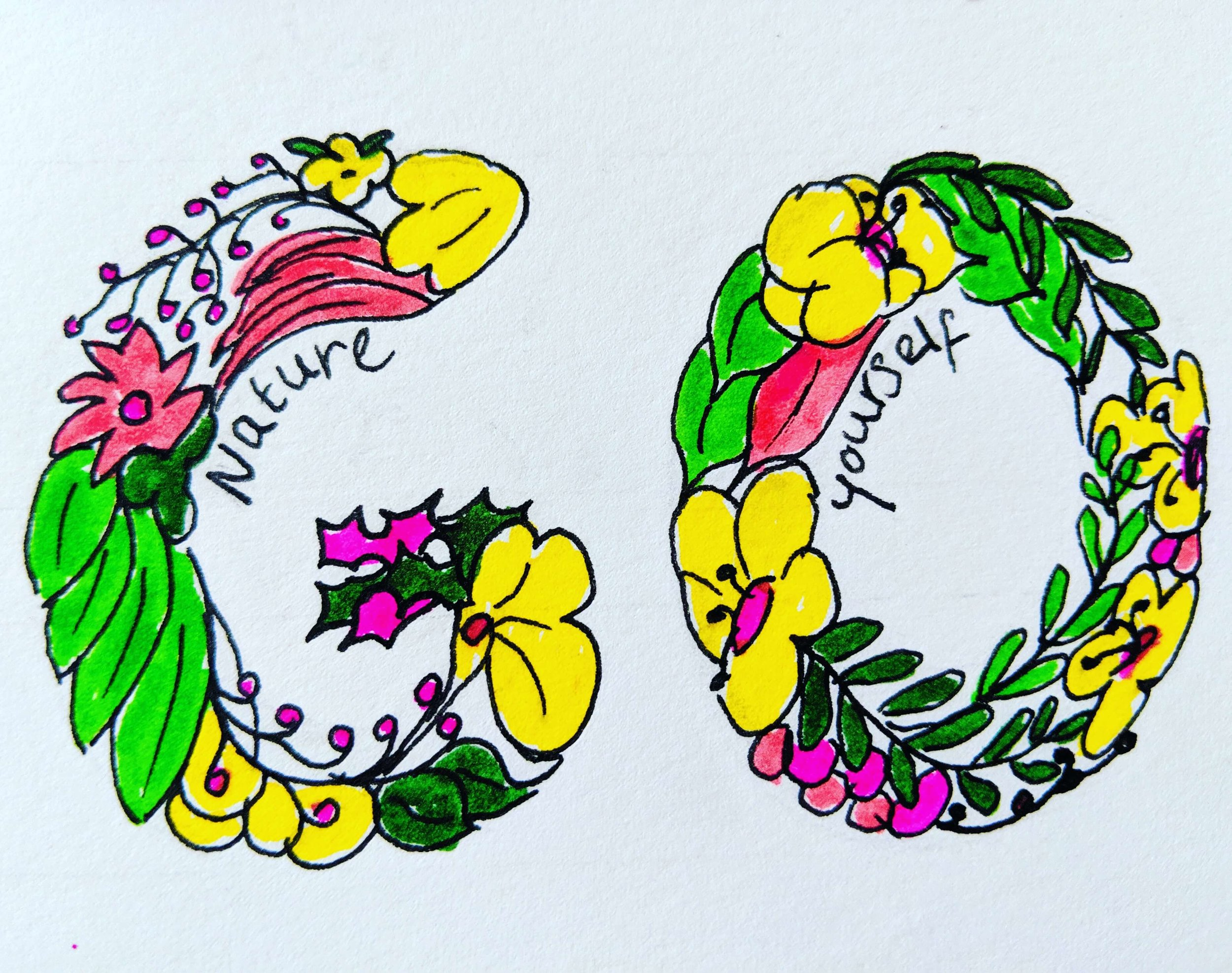 go nature yourself hand lettering kelly herrick blog