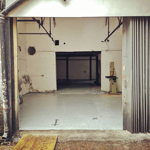 New beginnings, exciting times. New workshop taking shape for a July opening. . So much potential here. Watch this space. .  We still have a couple of spots to fill, DM me if interested. . . . .  #workshop #newbeginnimgs #woodwork #furnituredesigner #newtoys #warehouse #sharedspace #creativespace #craft #ukcraft
