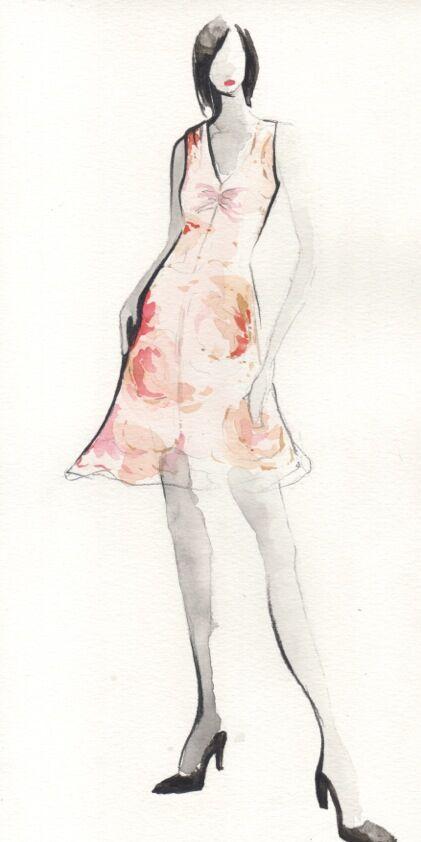 Gabrielle Short Dress in Camillias.jpg