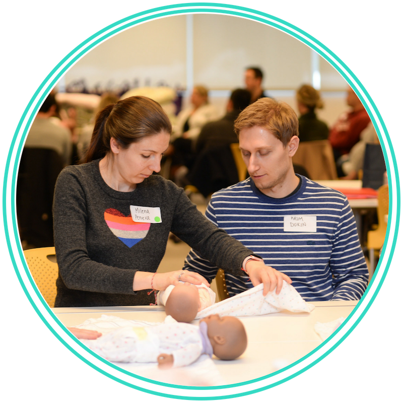 Newborn Essentials - Feel completely prepared to bring your newborn home. This 2-hour class covers basics such as how to change a diaper and bathe a newborn as well as more advanced topics such as newborn behaviors and sleep cycles. Taught by a Postpartum Registered Nurse at St. Elizabeth's Medical Center, our South Boston Studio or in the privacy of your home.Cost: $100 (group class) $225 (private session)