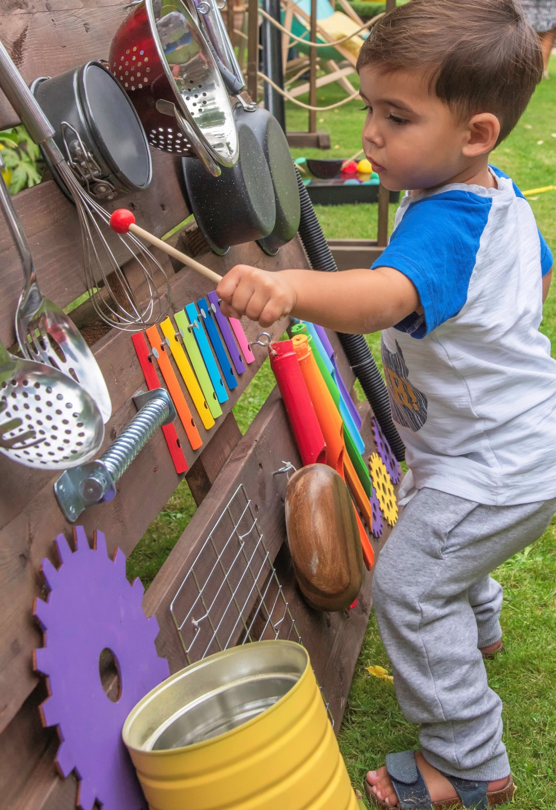 """Orion, 1 - """"It was nice to find something that was out of the ordinary and meant that my son was not only having fun but could be imaginative, creative and noisy! Fantastic party for both the children and the adults""""- Leah, Southend-on-Sea"""