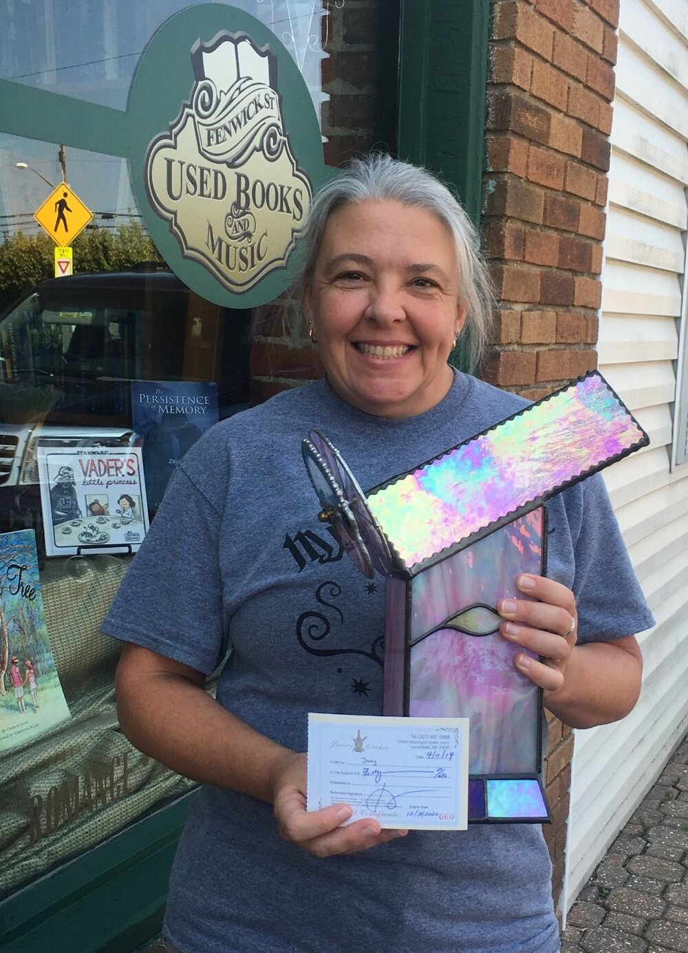 "3rd Place Winner - Jody Brouwer with  ""Sparkle Visions""  at Fenwick Street Used Books & Music"