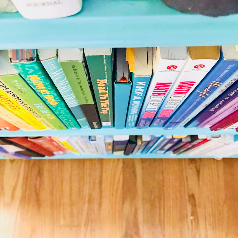 Organized colorful books