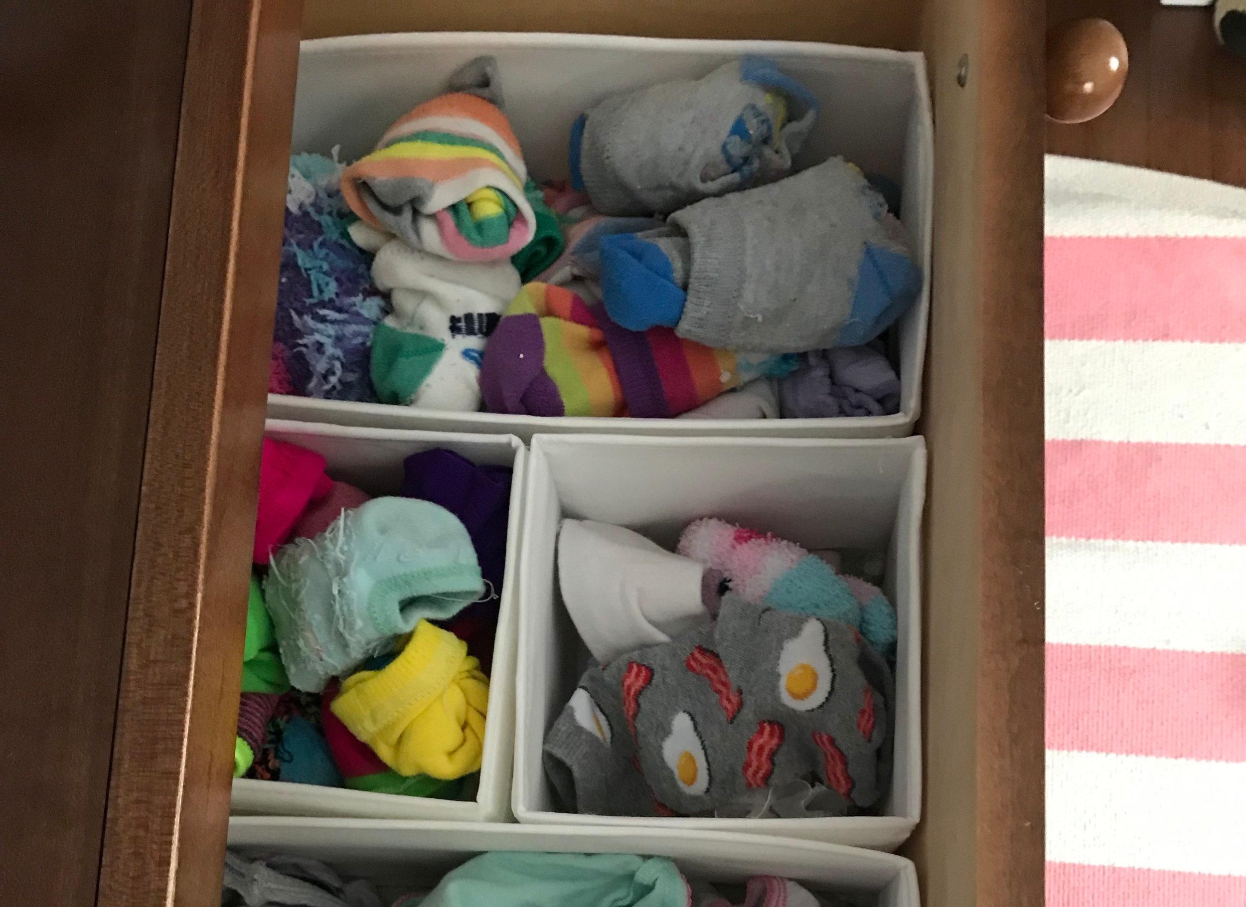 kids+sock+organization