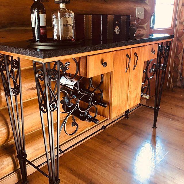 A custom wine bar.