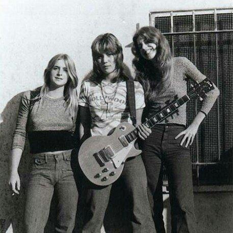 Sandy West, Joan Jett, and Micki Steele