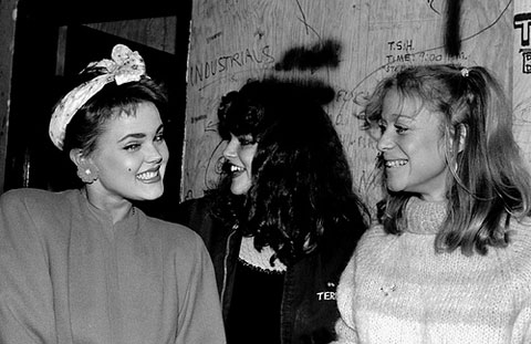 Belinda Carlisle,  Pleasant Gehman  and Wyline. Photo by  Theresa Kereakes .