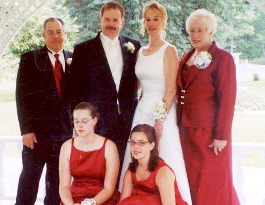 Stacey and David Castor's wedding (source: Murderpedia)
