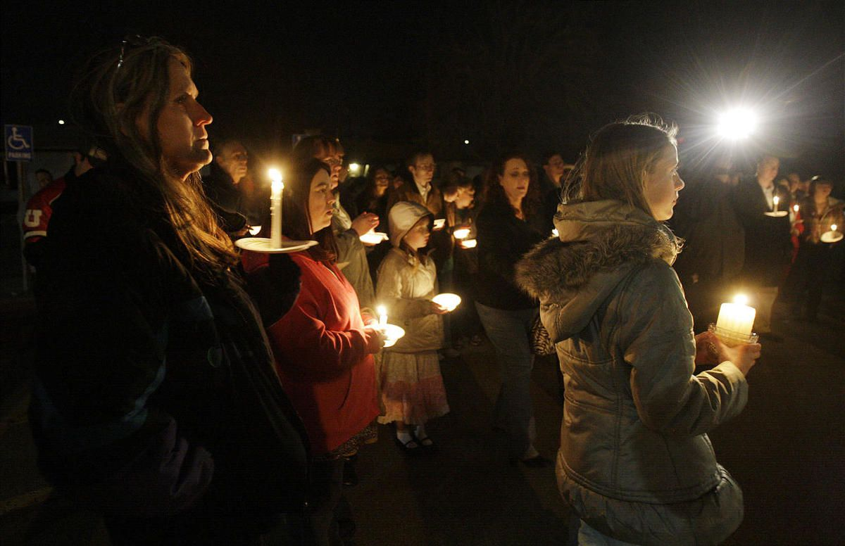 Family and friends attend a vigil for Susan Powell.  Credit: Jeffrey D. Allred, Deseret News