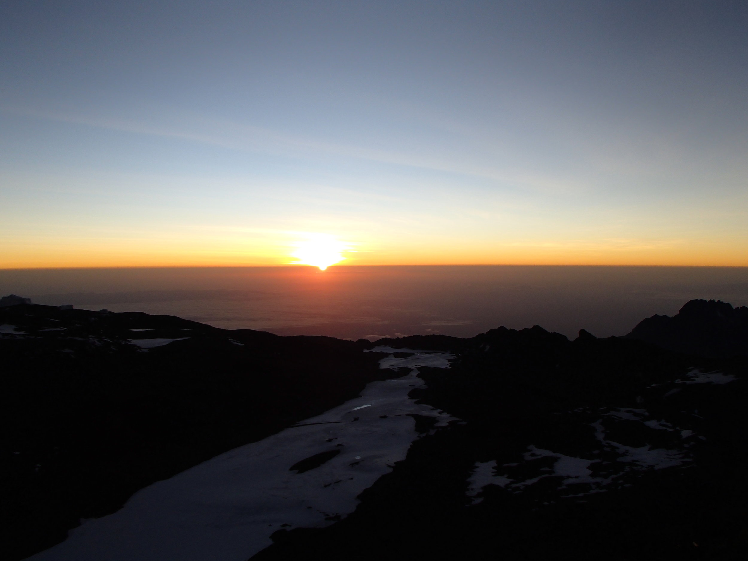 Sunrise from the top of Africa.