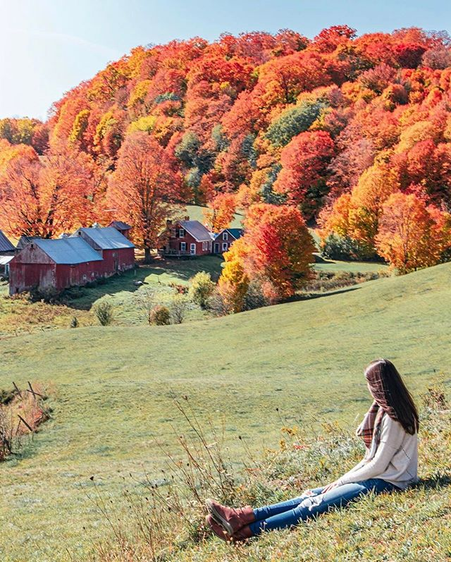 📍Vermont, USA 🇺🇸 featuring @happilyeverjetlagged #TravelDreamSeekers 🍁