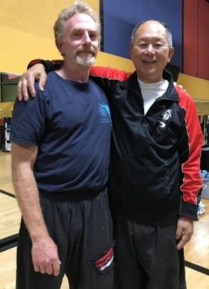 Visiting with Master Yang at YMAA Andover in 2018