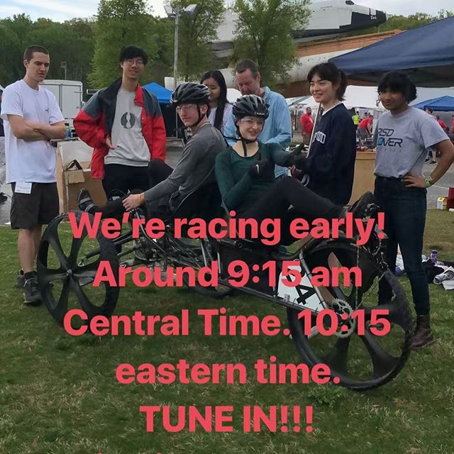 We're racing early! Around 9:15 am Central Time. 10:15 Eastern Time.  TUNE IN!!! You can watch NASA Rover Challenge's Live Stream here! Link in bio
