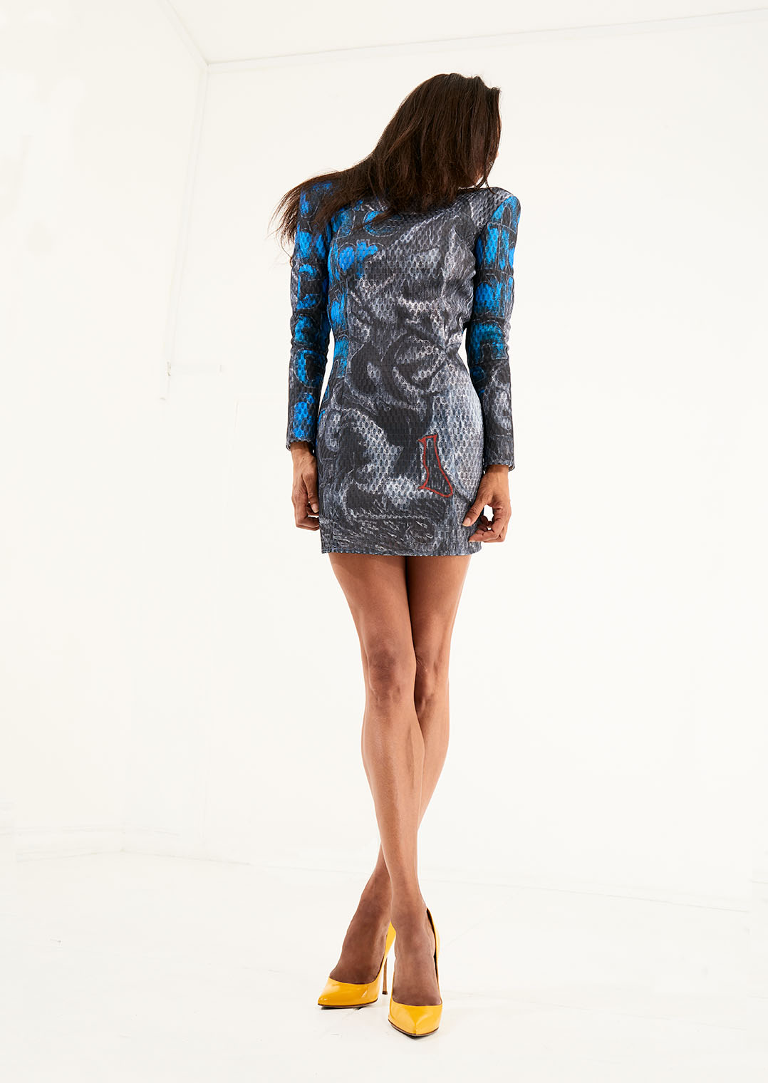 Bernard Douglas Call girl mini dress