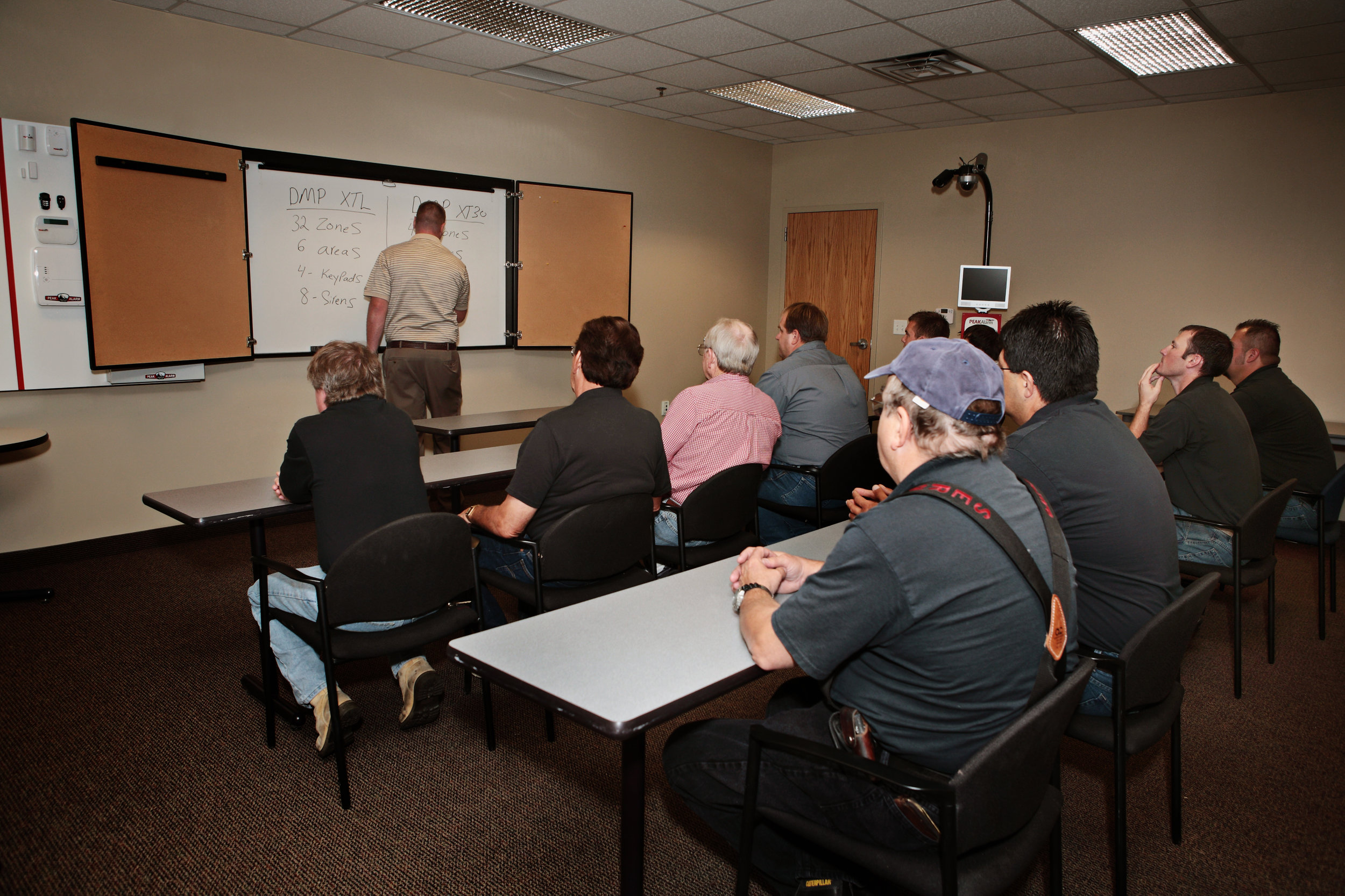 Peak Alarm has ongoing technical training for our employees