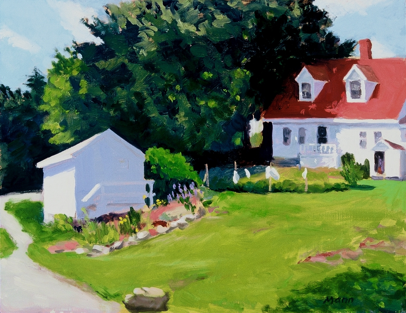 "House at Richardson's Cove  oils, 14"" x 18"""