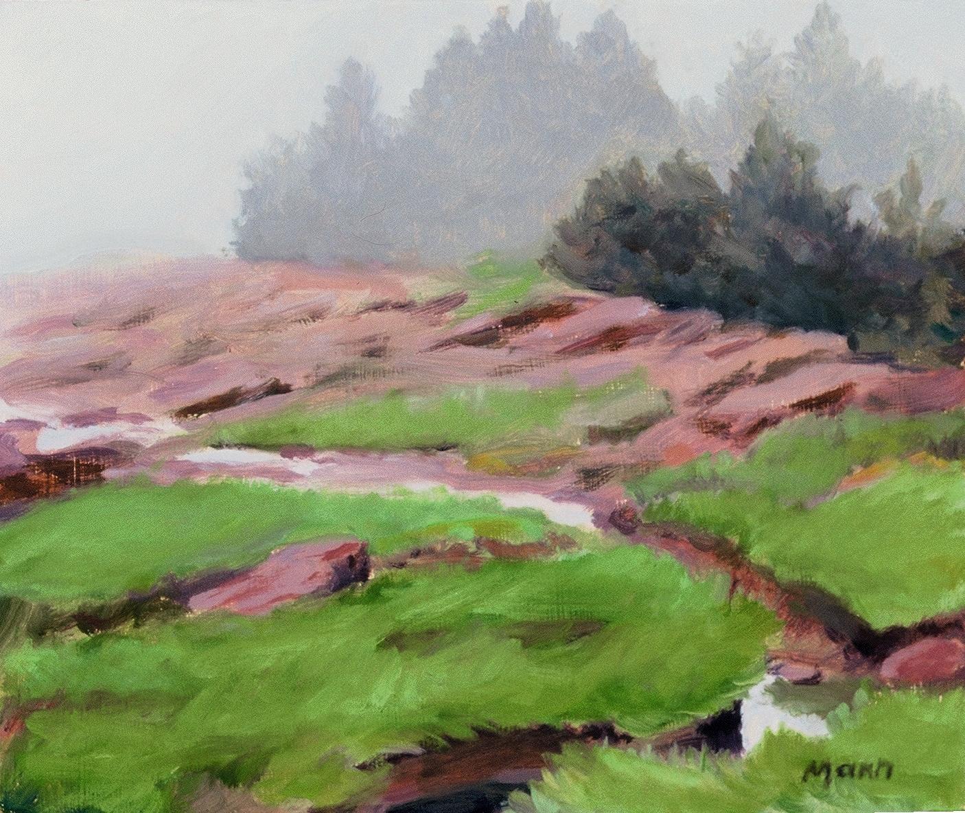 "Pottery Creek, Fog  oils, 10"" x 12"""