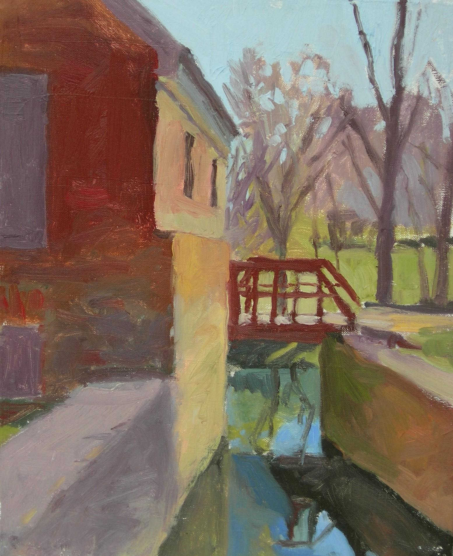 """Aldie Mill  oils, 14"""" x 11"""""""