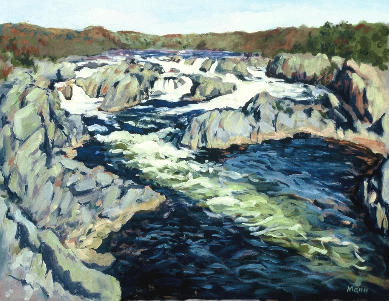 "Great Falls on the Potomac  oils, 24"" x 36"""