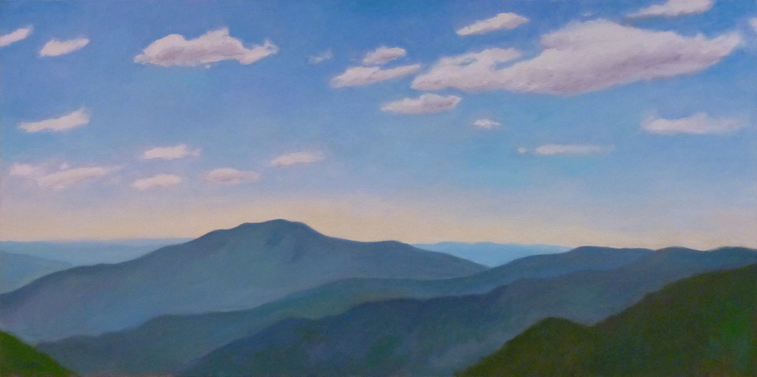 "Old Rag from Skyline Drive  oils, 24"" x 48""  sold"