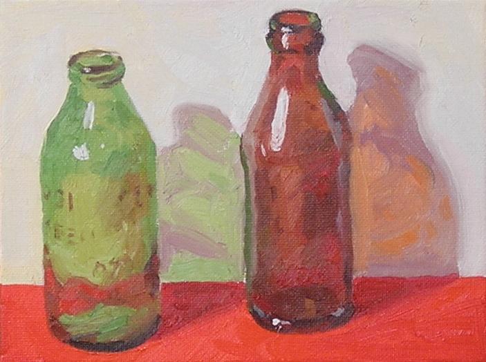 """Bottles  oils, 6"""" x 8"""""""