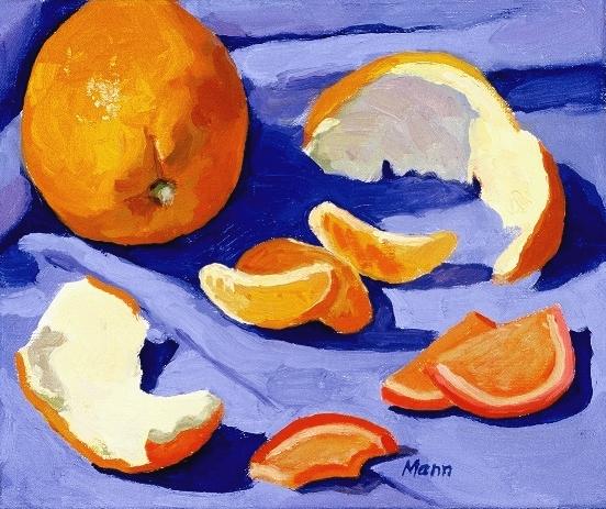 """Oranges  oils, 12"""" x 14"""""""