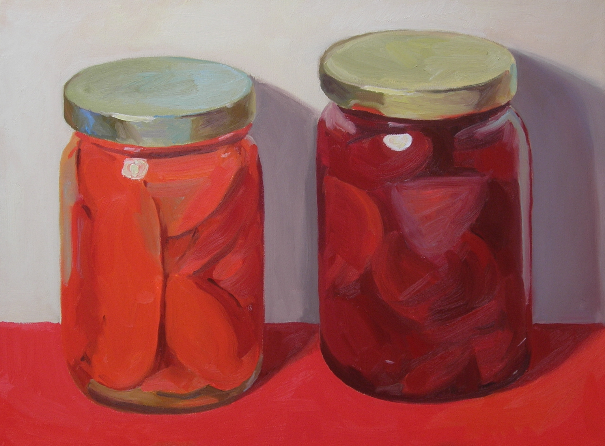 """Red  oils, 18"""" x 24""""  sold"""