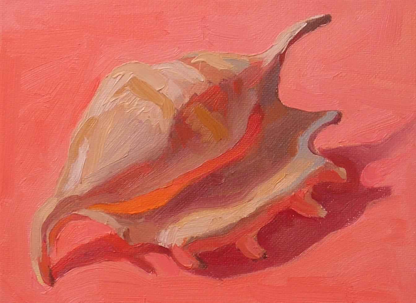 "Seashell #1  oils, 6"" x 8"""