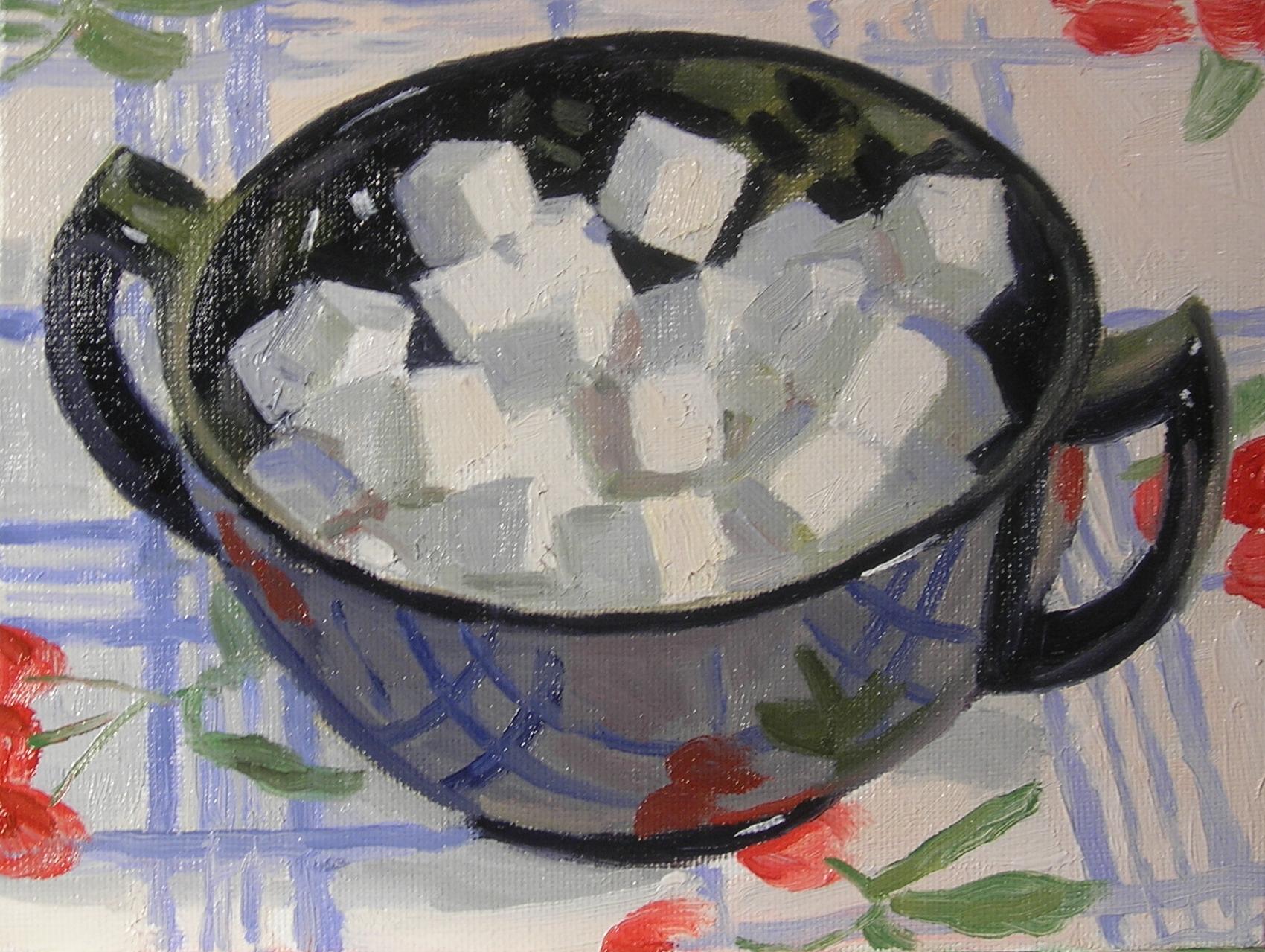 "Sugar Bowl  oils, 6"" x 8"""
