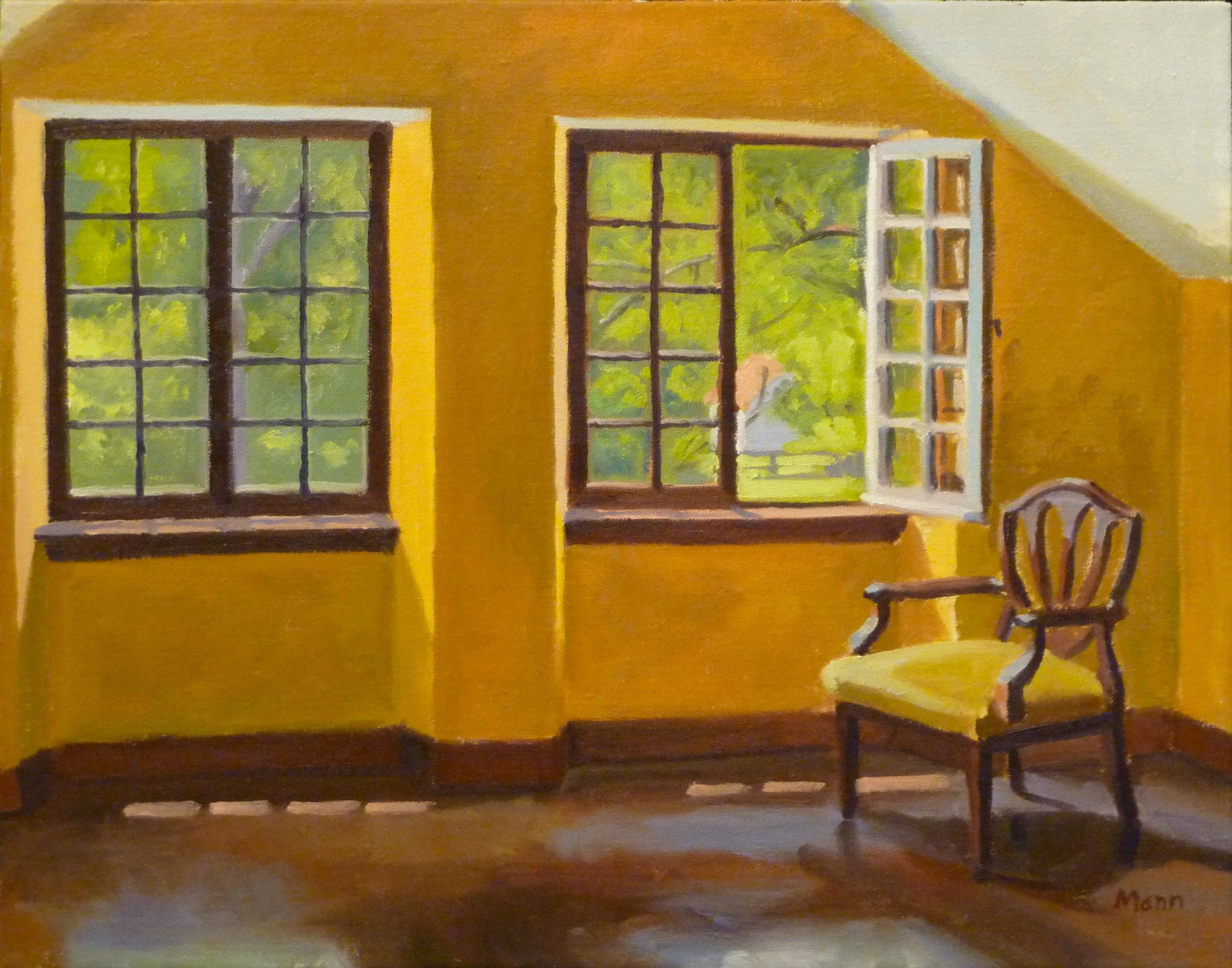 """Yellow Room  oils, 22"""" x 18"""",  sold"""