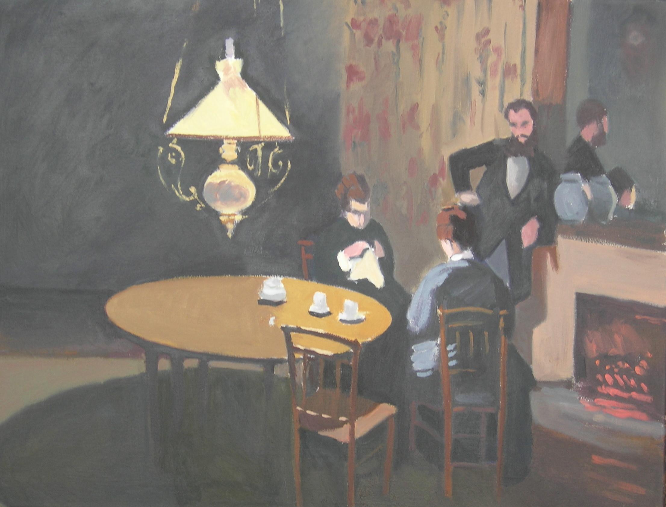 Copy after Claude Monet    Interior, After Dinner